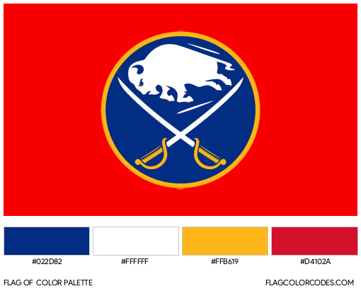 Buffalo Sabres Flag Color Palette