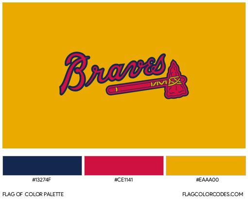 Atlanta Braves Flag Color Palette