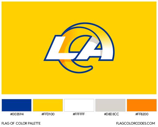 Los Angeles Rams Flag Color Palette