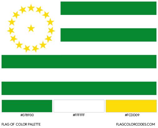 Caquetá Flag Color Palette