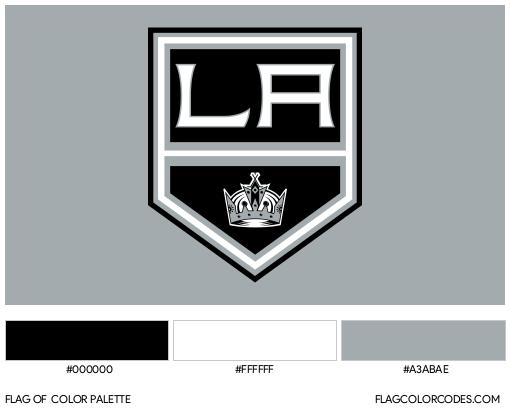Los Angeles Kings Flag Color Palette