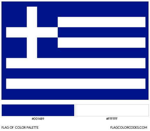 Greece Flag Color Palette
