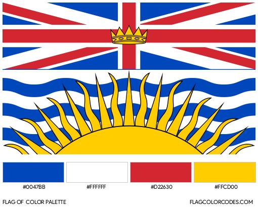 British Columbia Flag Color Palette