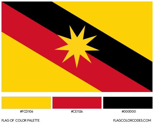 Sarawak Flag Color Palette