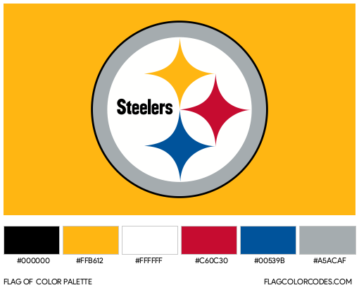 Pittsburgh Steelers Flag Color Palette