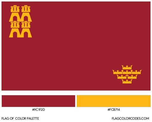 Murcia Flag Color Palette