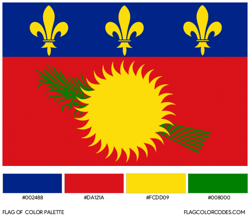 Guadeloupe (Unofficial) Flag Color Palette