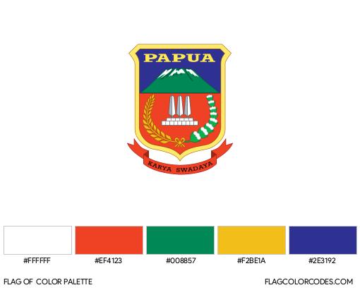 Papua Flag Color Palette