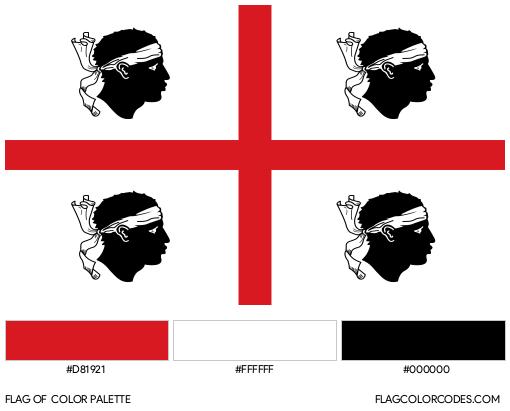 Sardinia Flag Color Palette