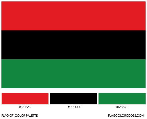 Pan-African Flag Color Palette