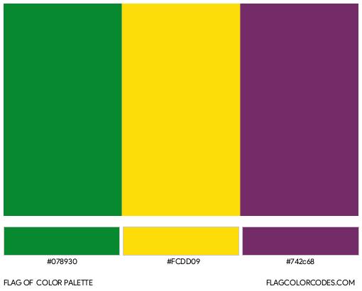 Quindío Department Flag Color Palette