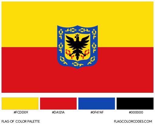 Bogotá Flag Color Palette