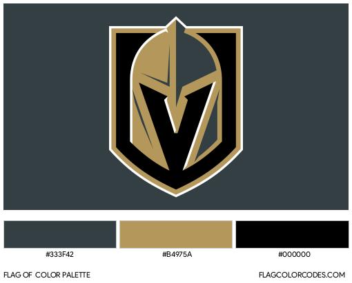 Vegas Golden Knights Flag Color Palette