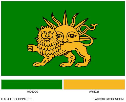 Safavid Dynasty Flag Color Palette