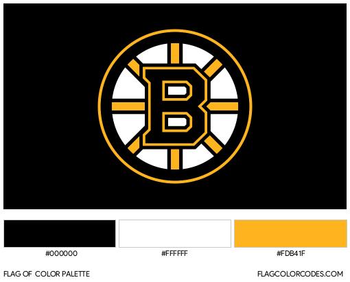 Boston Bruins Flag Color Palette