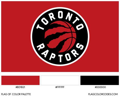 Toronto Raptors Flag Color Palette