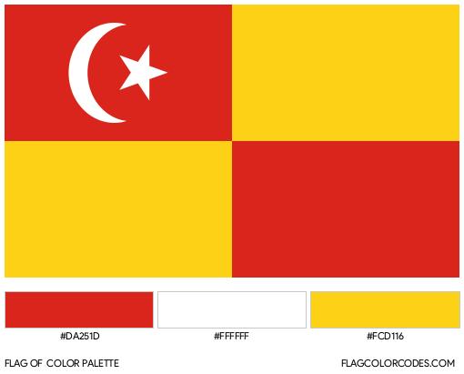 Selangor Flag Color Palette