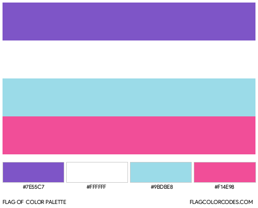 Multisexual Flag Color Palette