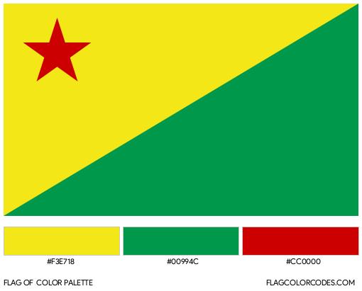 Acre Flag Color Palette