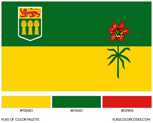 Saskatchewan Flag Color Palette