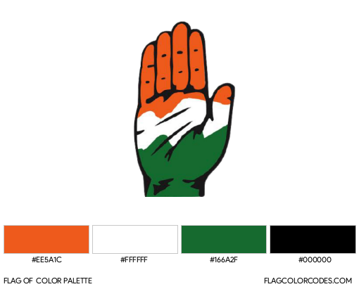 Indian National Congress Flag Color Palette