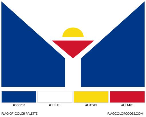 Saint-Martin (Unofficial) Flag Color Palette