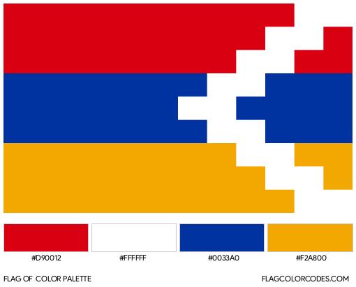 Nagorno-Karabakh Flag Color Palette