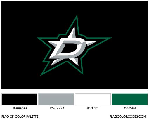 Dallas Stars Flag Color Palette