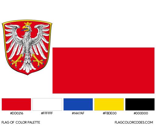 Frankfurt Flag Color Palette