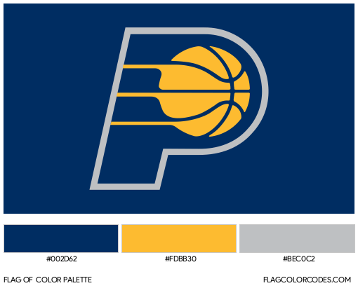 Indiana Pacers Flag Color Palette