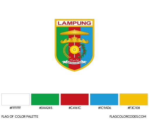 Lampung Flag Color Palette