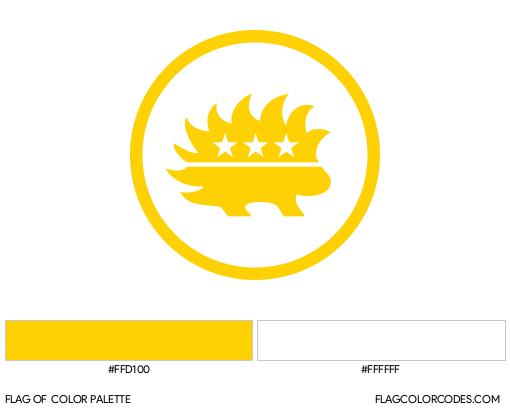 Libertarian Party (Porcupine) Flag Color Palette