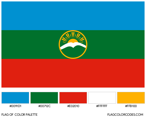 Karachay-Cherkessia Flag Color Palette