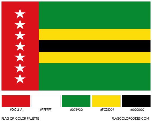 Santander Flag Color Palette
