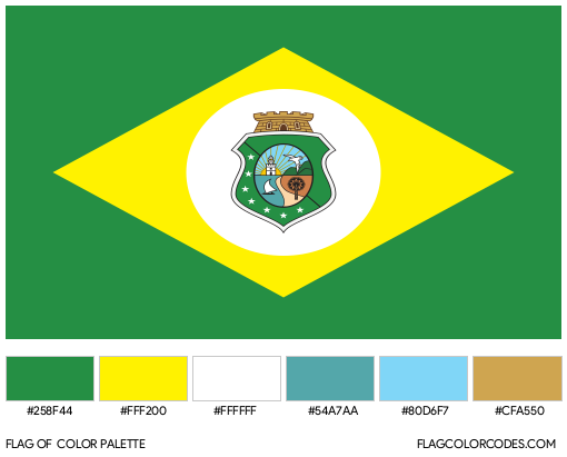 Ceará Flag Color Palette