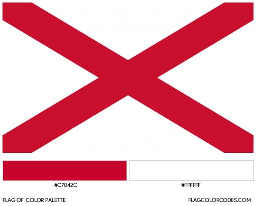 Saint Patrick's Flag Color Palette
