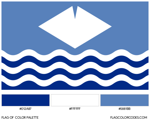 Isle of Wight Flag Color Palette