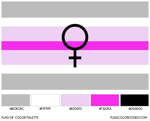 Paragirl (Alternate) Flag Color Palette