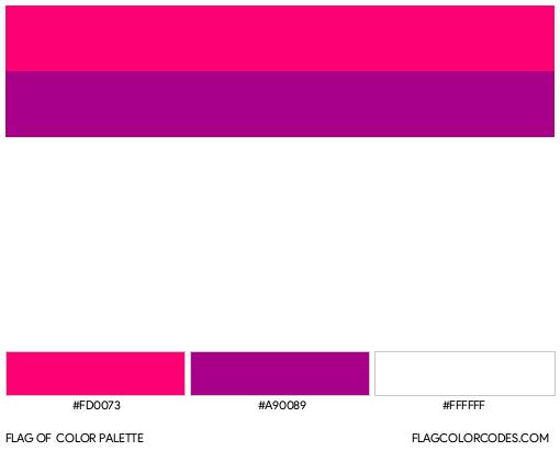 Semi Bisexual Flag Color Palette