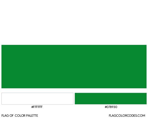 Antioquia Flag Color Palette