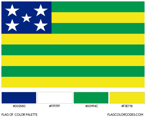 Goiás Flag Color Palette