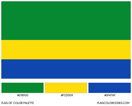 Chocó Flag Color Palette