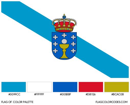 Galicia Flag Color Palette