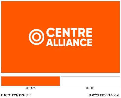 Centre Alliance Flag Color Palette