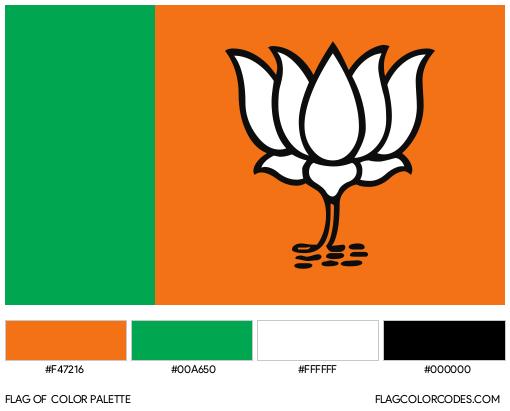 Bharatiya Janata Party Flag Color Palette