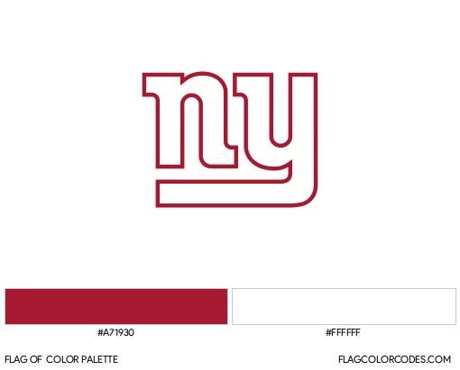 New York Giants Flag Color Palette