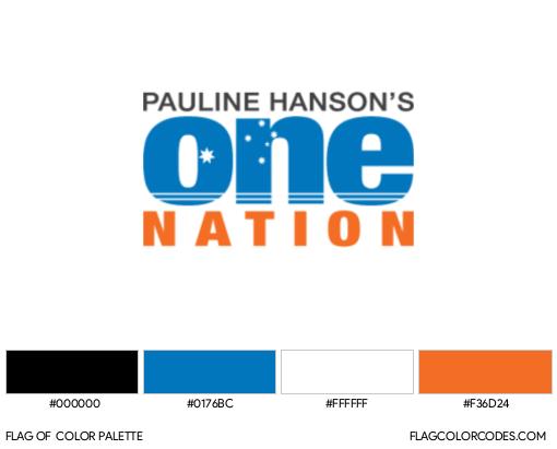 Pauline Hanson's One Nation Flag Color Palette