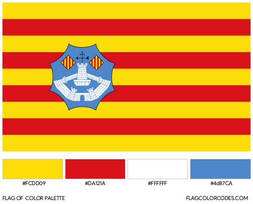 Menorca Flag Color Palette