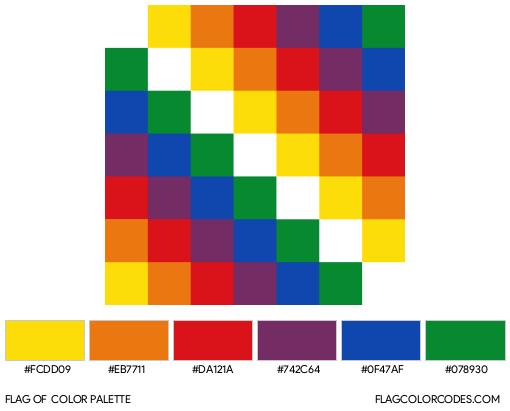 Wiphala Flag Color Palette