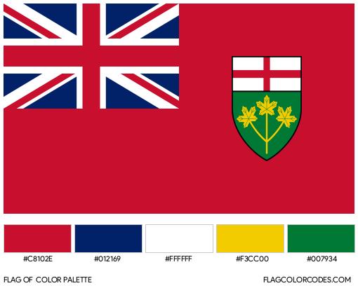 Ontario Flag Color Palette